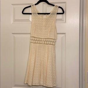 Free People Cream Lace Dress Size 6